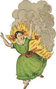 Paulinchen prende fuoco