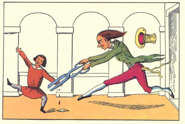 Konrad inseguito dal sarto, da Pierino Porcospino