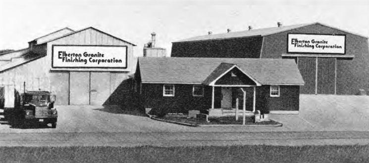 Sede della Elberton Finishing Co. a Elberton, anni '80.