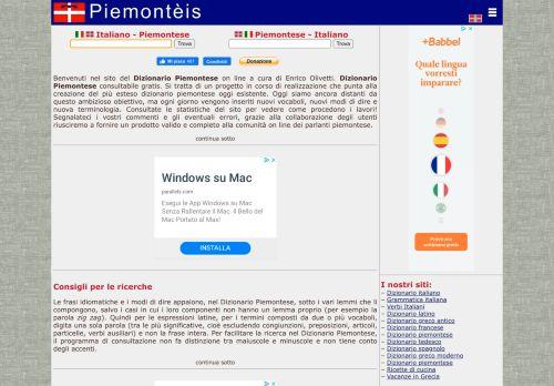 GRANDE DIZIONARIO PIEMONTESE OLIVETTI