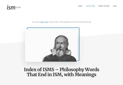 Ism Book