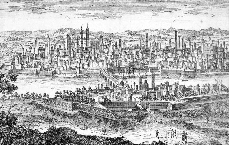 Veduta di Pavia del 1751