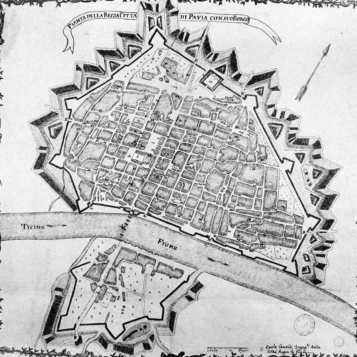 Pianta di Pavia del 1792