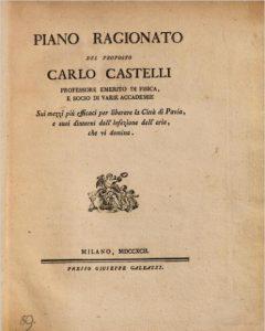 """copertina di """"Piano ragionato del proposto Carlo Castelli..."""""""