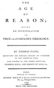 "frontespizio di ""To an Age of Reason"""