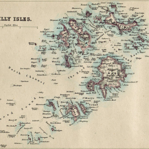 Isole Scilly, mappa del 1874